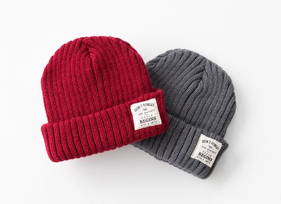 2017NoThrow年賀状ニット帽